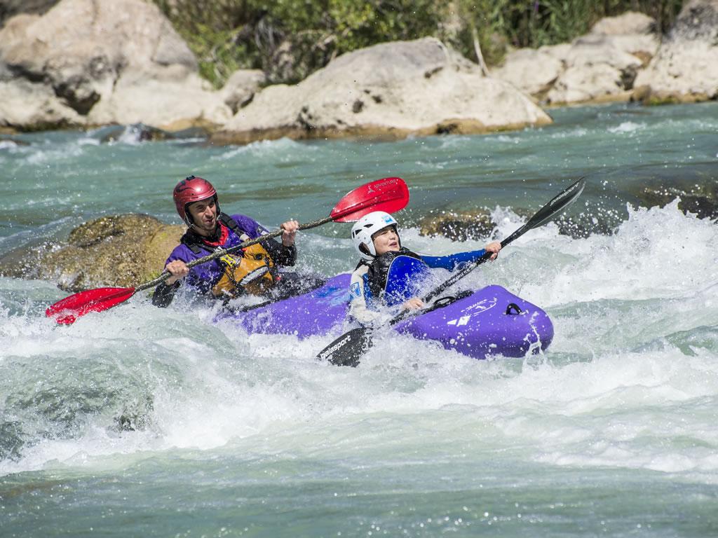 Kayak con niños Huesca
