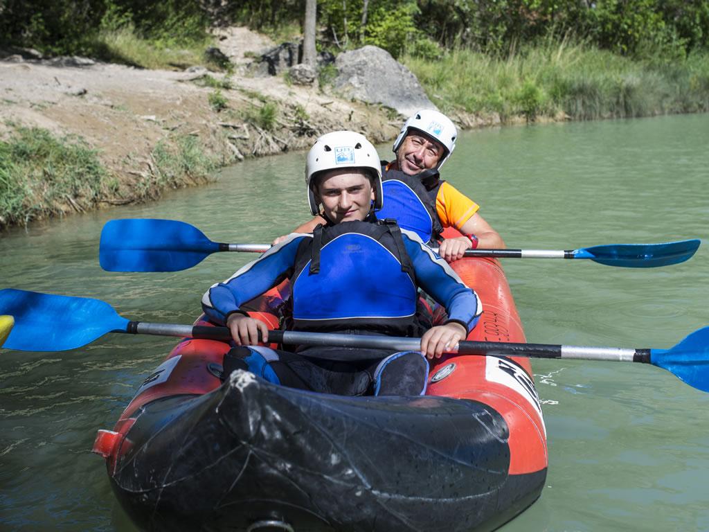 Kayak en familia aguas tranquilas Huesca