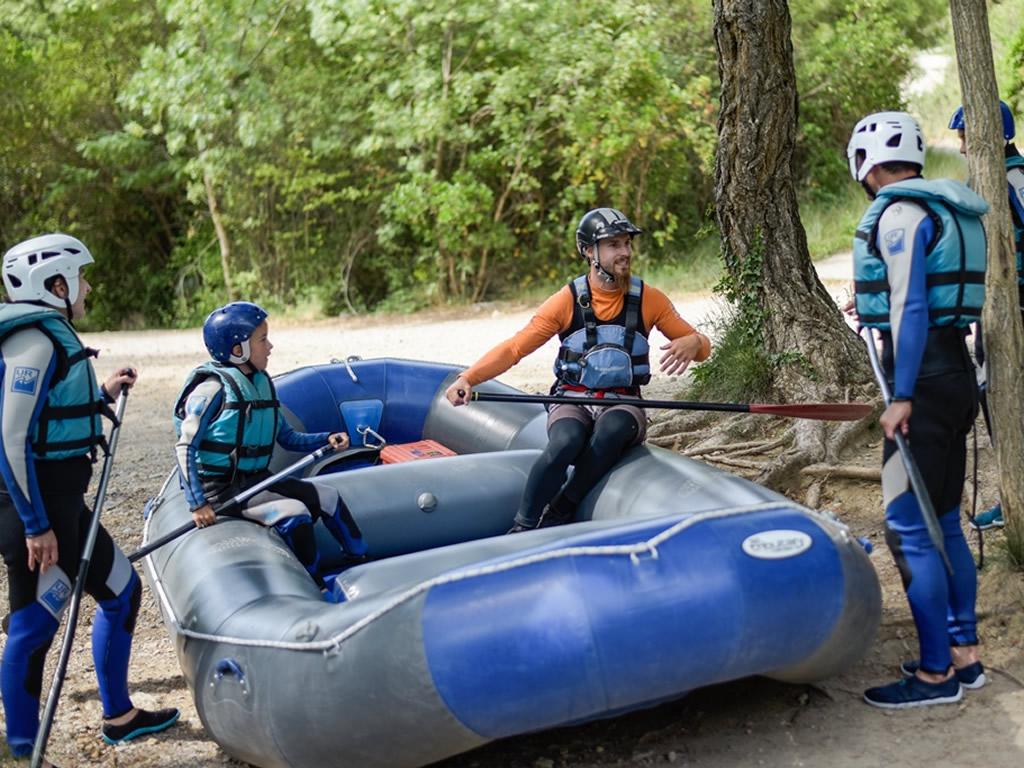 Rafting con niños Pirineo de Husca