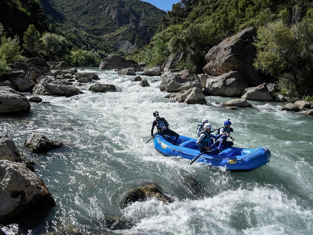 Rafting con niños Pirineos