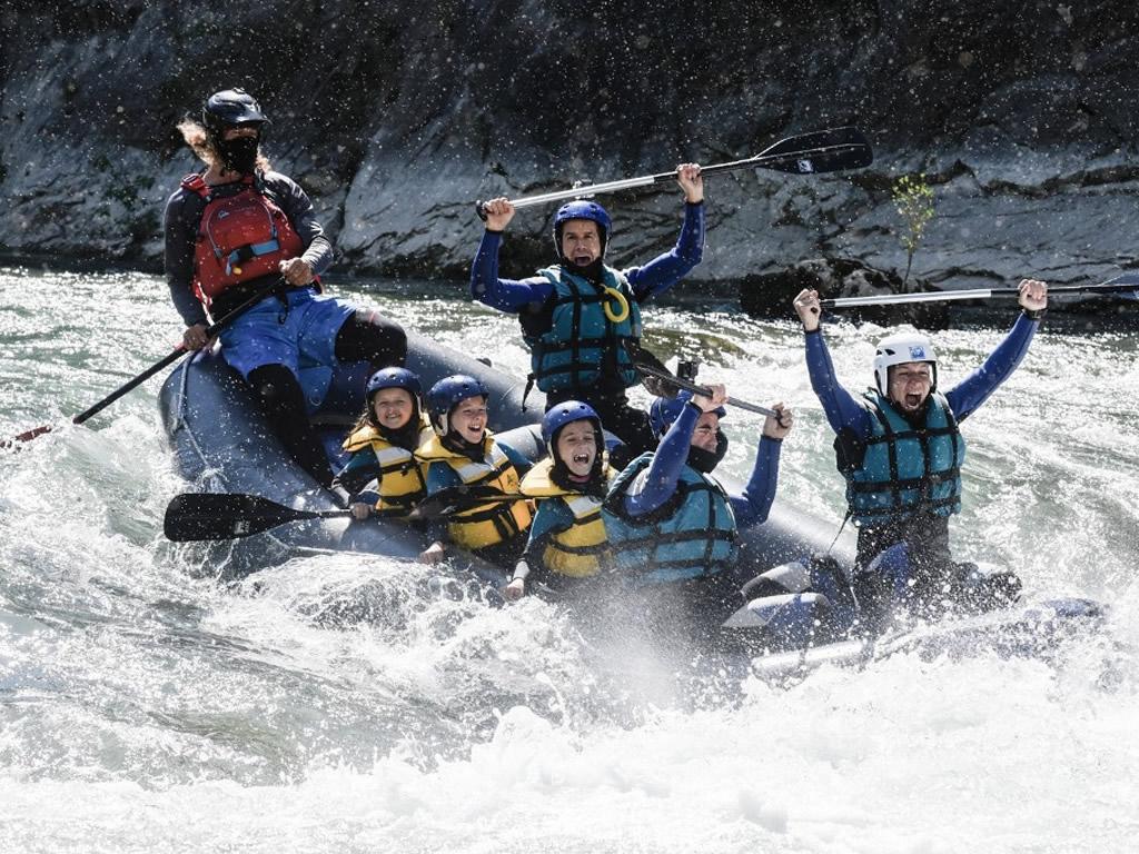 Rafting con niños cerca de Zaragoza