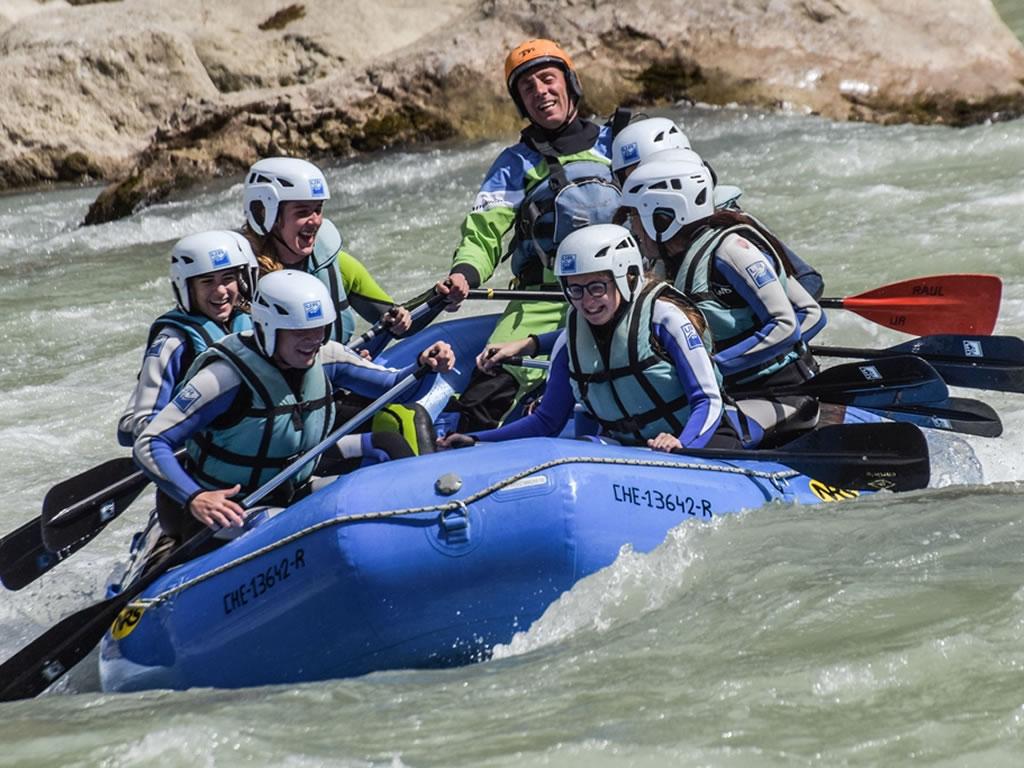 Rafting en familia Husca