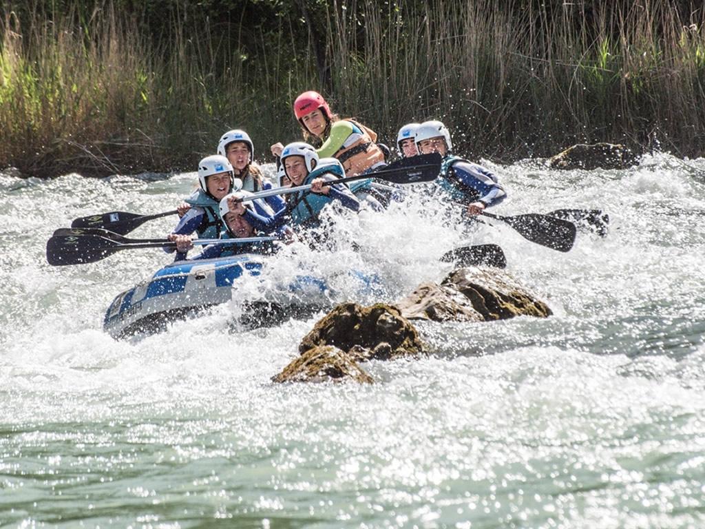 Rafting en familia Murillo de Gallego