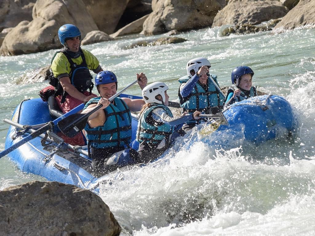 Rafting en familia Pirineo de Huesca