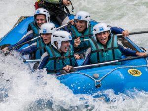 Rafting con adolescentes en Huesca